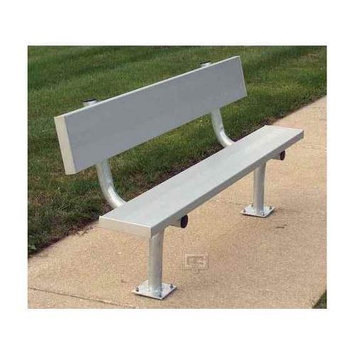 Gared Sports Surface Mount Bench w Back (21 ft.)