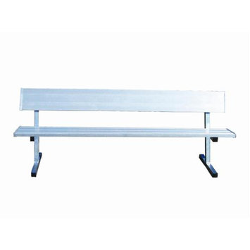 Jaypro Sports 7.5 ft. Portable Mount Bench w Back (Permanent)