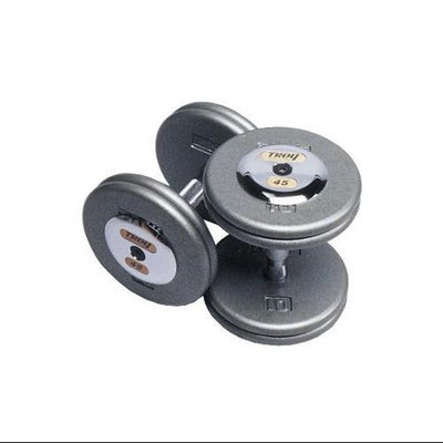 Troy Barbell Fixed ProStyle Dumbbells with Contoured Handle Set of 2 (125 lbs.)
