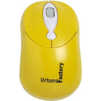 Urban Factory CM09UF Crazy Mouse - Mouse - optical - 3 buttons - wired - USB - yellow