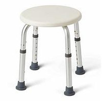 Medline Round Shower Stool, White