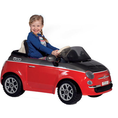 Peg-perego Fiat 500 Red And Grey 12 Volt Vehicle