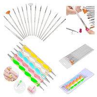 Insten Zodaca 20pcs Pack Nail Art Design Set Dotting Painting Drawing Polish Brush Pen Tools Silver