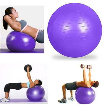 Eforcity INSTEN Purple Yoga with Hand Air Pump Fitness Exercise Stability Balance Ball