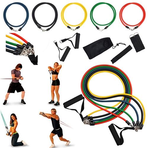 Eforcity Insten 11-Piece Latex Resistance Band Workout Set