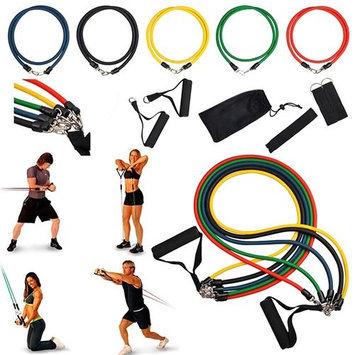 Eforcity Insten 11-Piece Latex Resistance Band Workout Set