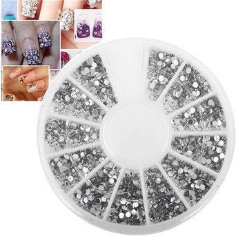 Eforcity INSTEN 1200-Piece Set 3D Manicure Nail Art Tips Gem 1.5mm Crystal Glitter Rhinestone DIY Decoration