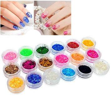 Eforcity INSTEN 18-Color Classy Nail Art Idea Design DIY Tiny Hexagon Glitter Set