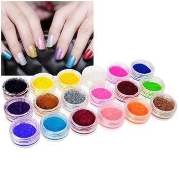 Eforcity INSTEN 18-Color Classy Nail Art Idea Design DIY Glitter Powder Set