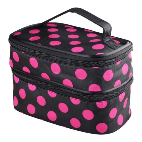 Eforcity Zodaca Dual-layered Polyester Portable Hanging Zipper Cosmetic Bag