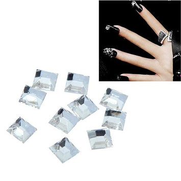 Eforcity INSTEN 4 x 4mm Square Classy Nail Art Idea Design DIY 3D Crystal Stickers (Pack of 10)