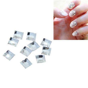 Eforcity INSTEN 3 x 3mm Square Classy Nail Art Idea Design DIY 3D Crystal Stickers (Pack of 10)