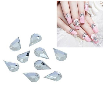Eforcity INSTEN 5 x 7mm Water Drop Classy Nail Art Idea Design DIY 3D Crystal Stickers (Pack of 10)