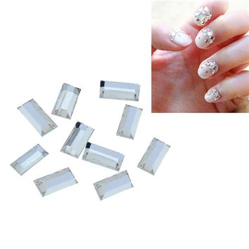 Eforcity INSTEN 2 x 5mm Cuboid Classy Nail Art Idea Design DIY 3D Crystal Stickers (Pack of 10)
