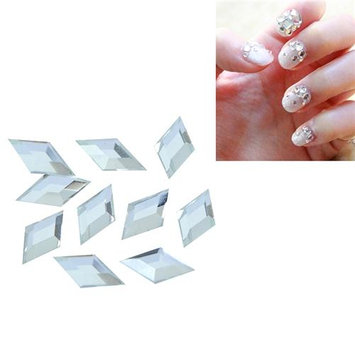 Eforcity INSTEN 3 x 6mm Rhombus Classy Nail Art Idea Design DIY 3D Crystal Stickers (Pack of 10)