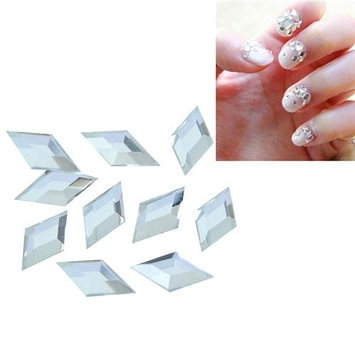 Eforcity INSTEN 4 x 8mm Rhombus Classy Nail Art Idea Design DIY 3D Crystal Stickers (Pack of 10)
