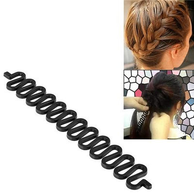 Eforcity INSTEN Black Plastic Braid Tool Hair Bun Maker