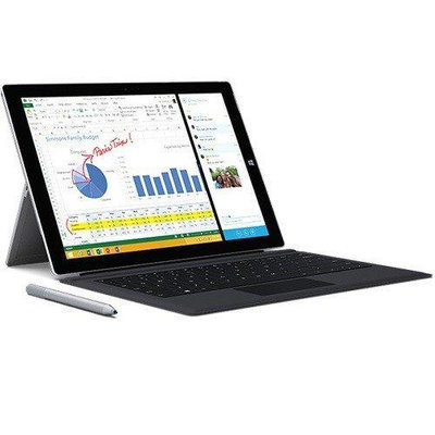 Microsoft Corp. Microsoft TQ6-00001 Surface Pro 3 12 Intel Core i7-4650U 1.70GHz Tablet - Windows 8.1 Pro 64-bit 8GB RAM 512GB SSD with Surface Pro 3 Type Cover - Black