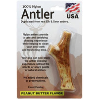 Pet Qwerks Medium Antler-Peanut Butter