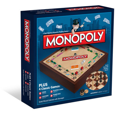 Monopoly Game Plus 4 Game Set by Winning Solutions