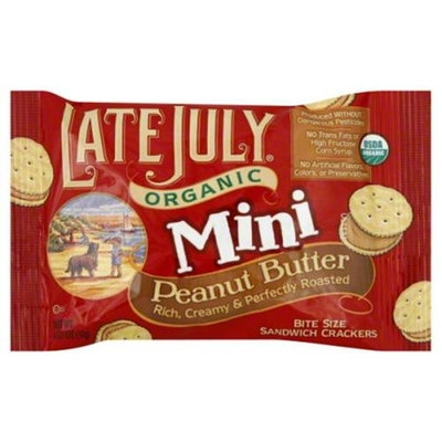 Late July Crackr-Mini Rich Peanut Butter -Pack of 8
