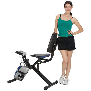 Exerpeutic ProGear 190 Compact Space Saver Recumbent Bike with Heart Pulse Sensors