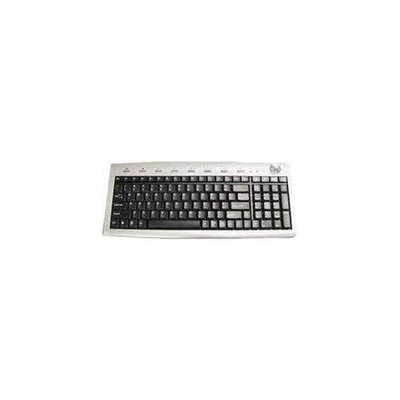 Solidtek KB-2070MSU Slim Multimedia Keyboard - USB - Black, Silver