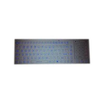 SolidTek KB-IKB700BL White Wired Washable Backlit Keyboard