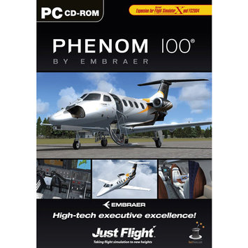 Just Flight Digital Interactive Embraer Phenom - FLIGHT SIMULATOR EXPANSION PACK - Black
