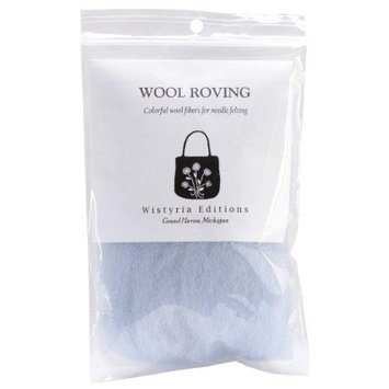 Wistyria Editions 390872 Wool Roving 12 in. .22 Ounce-Pale Blue