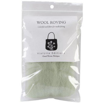 Wistyria Editions 390877 Wool Roving 12 in. .22 Ounce-Mint