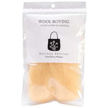 Wistyria Editions 390878 Wool Roving 12 in. .22 Ounce-Honey