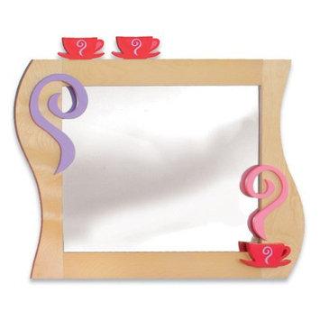 Room Magic Girl Tea Set Wall Mirror