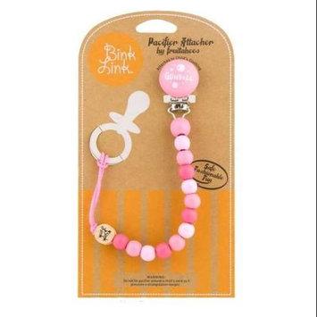 Bink Link Pink Gumball Pacifier Clip