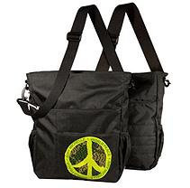 Amy Michelle Ecobaby World Peace Diaper Bag - Black