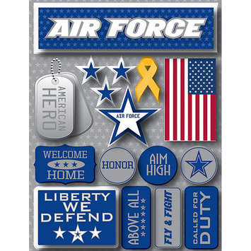 Reminisce RSD-2-229 Signature Dimensional Stickers 4.5 in. X6 in. Sheet-Air Force
