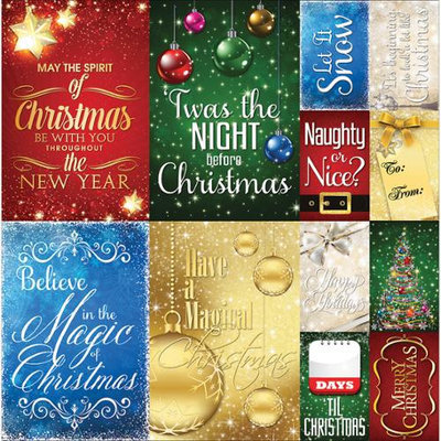 Reminisce Magical Christmas Cardstock Stickers 12X12-Poster