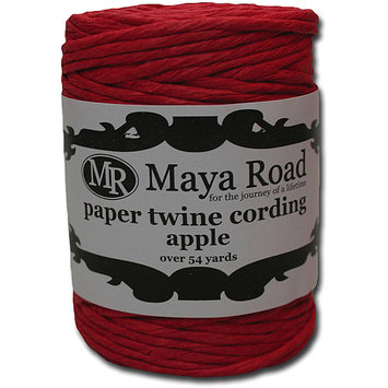 Maya Road Paper Twine Cording 54 Yards/Roll-Apple