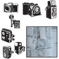 Maya Road Transparencies Die-Cuts 14/Pkg-Say Cheese Camera 7 Styles/White