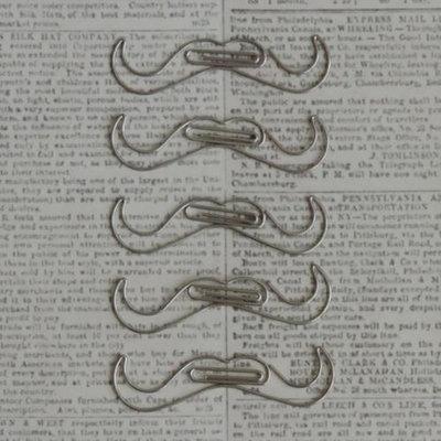 Maya Road Vintage Metal Trinkets 5/Pkg-Mustache Clips 2.5X.7