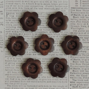 Maya Road WD2853 Wooden Shapes 7/Pkg-Stained Flower Buttons 1