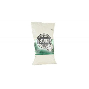 McClures Pickles Garlic Dill Kettle Potato Chips 7.5 Oz. - Pack of 20
