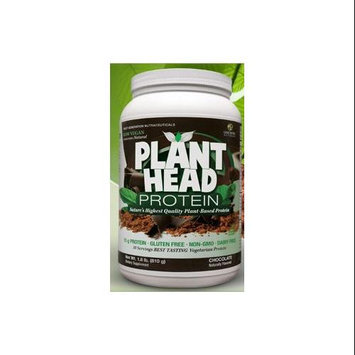 tures Answer Genceutic Naturals - Plant Head Protein Chocolate - 1.8 lbs.