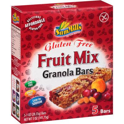 Sam Mills Granola Bars Gluten Free Fruit Mix - 5 Bars
