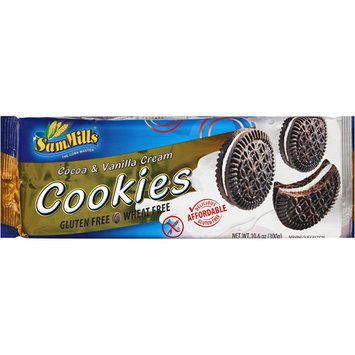 Sam Mills Cookie Gluten Free Sandwich Cream Chocolate 10.6 Oz Pack Of 7