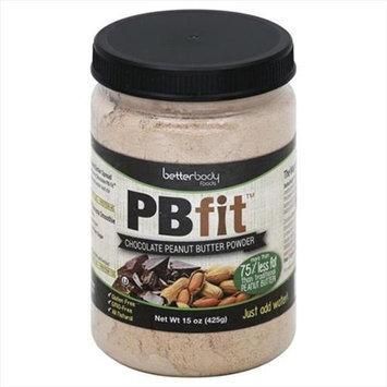 Better Body Foods PBfit Peanut Butter Powder Chocolate 15 oz