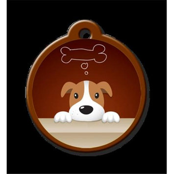 QR Code Pet ID Tag 01-AC-DR-CH Active Dreamer Dog Tag