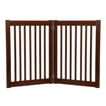 Dynamic Accents Large Two Panel EZ Pet Gate Mahogany (42222)