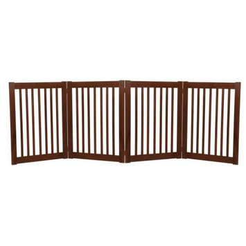Dynamic Accents Large Four Panel EZ Pet Gate Black (42423)