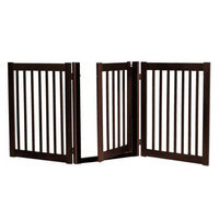 Dynamic Accents 3 Panel Freestanding Walk Through Gate BLACK